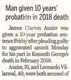 James Clayton Auxier probation death denton record chronicle