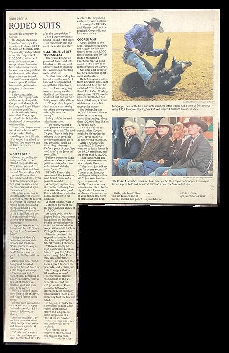 Star-telegram 2016 Rodeo scandal lawsuits settled