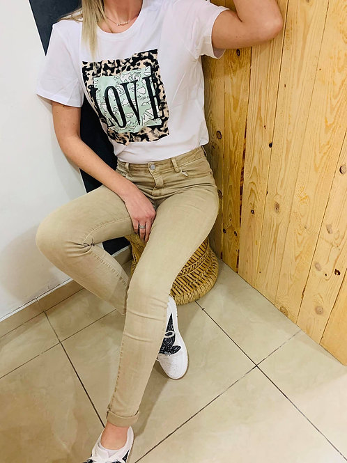 """T-shirt """"Lova"""" - blanc"""