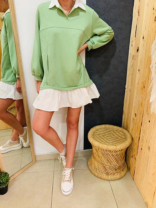 Robe sweat «Sunny» - vert