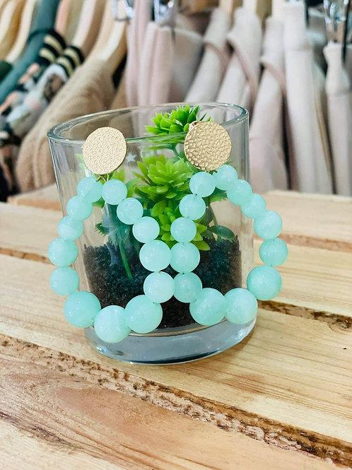 Boucles d'oreilles - vert d'eau