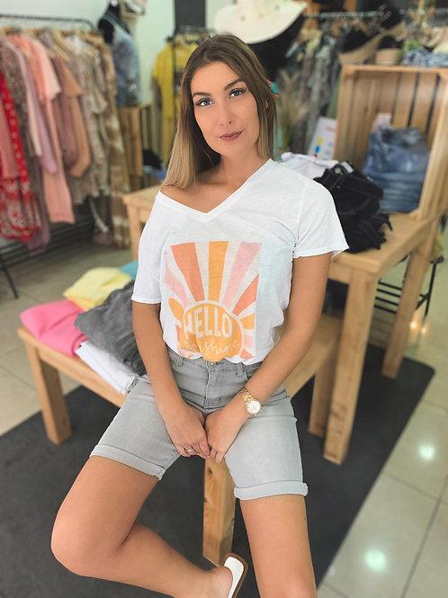"T-shirt col V ""Sunshine"""