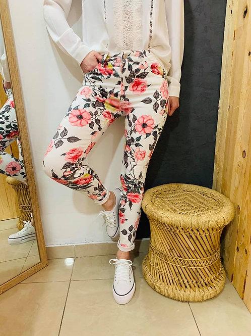 "Jeans "" Flower"" - rose"