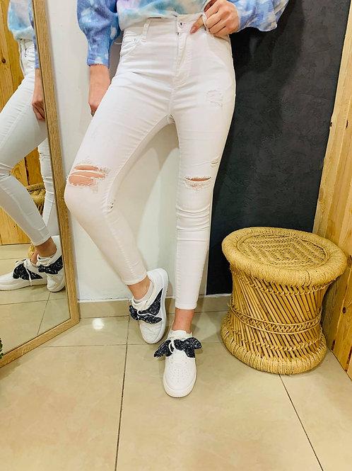 """Jeans """"Sacha"""" - blanc"""