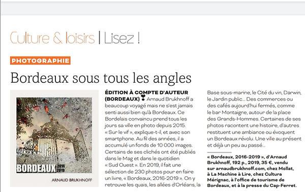 Arnaud Brukhnoff Livre Sud Ouest Mag