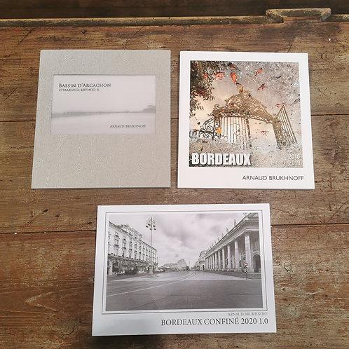 3 Livres Bordeaux Confiné,  2016-2019 + Arcachon à Contre-Courants