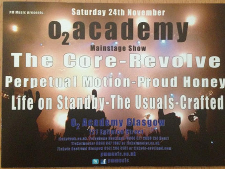 Headlining the O2 Academy, Glasgow on Saturday, 24 Nov 2012.