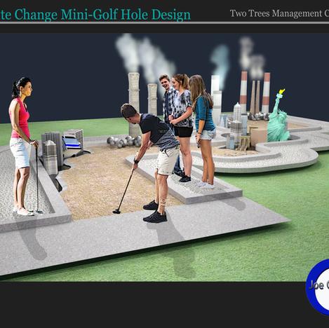 Climate Change Mini-Golf Course Hole Design