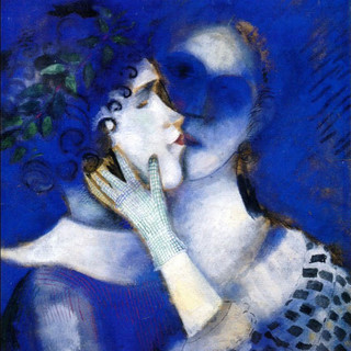1914-Marc-Chagall-1887-1985-Blue-Lovers-