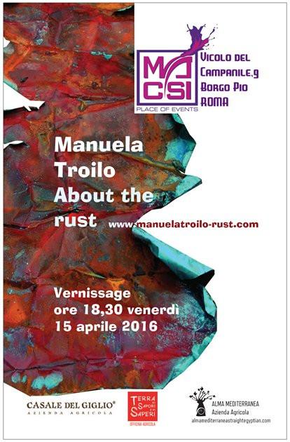About the rust Mostra flash Spazio MACSI