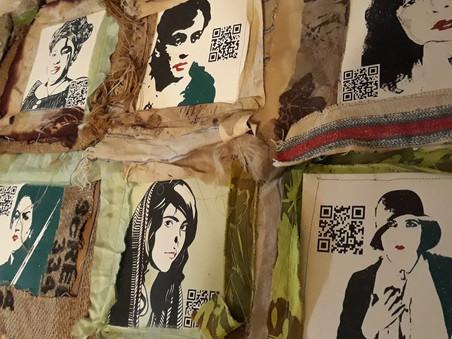 l'arazzo fatto da Officina Creativa le Lase per Altar Mujeres quinta edizione