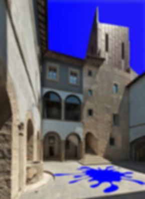 in chiostro blu  Formello Palazzo Chigi