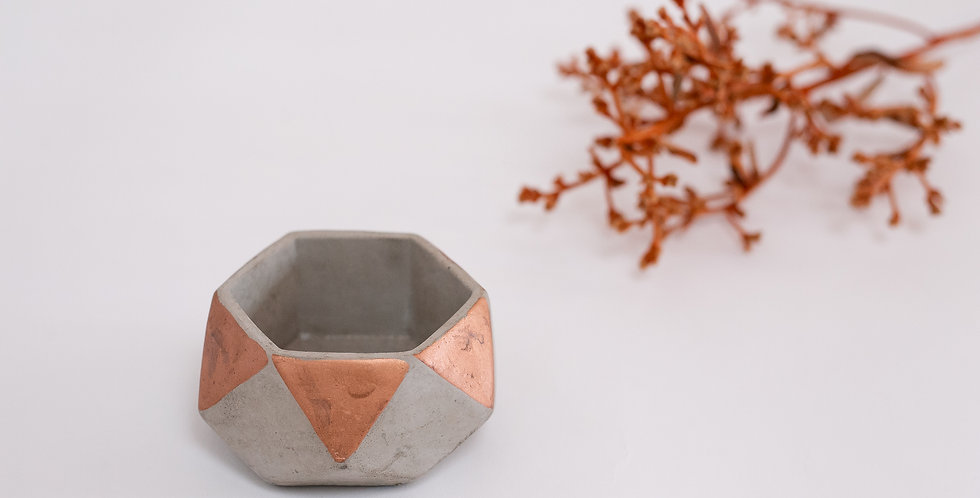 Cachecpot cimento Triangulo Rose