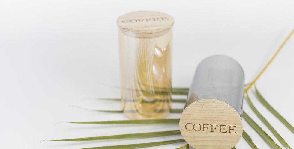 Pote de vidro hermético COFFEE
