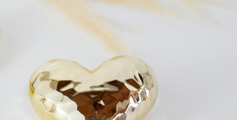 Coração Martelado Gold