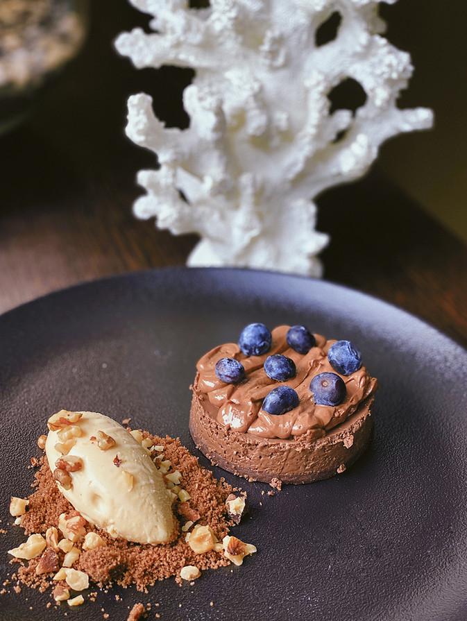 шоколадный тарт с мороженым соленая карамель