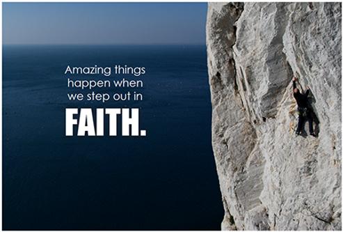 Wenn wir im Glauben gehen, passieren großartige Dinge.