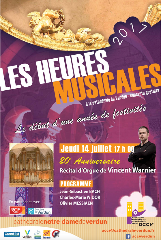 """Affiches des """"heures musicales"""""""