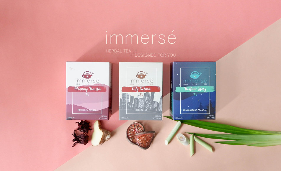 New herbal tea 2019, Morning Booster, City Calmer, and Bedtime Story tea. immersé tea