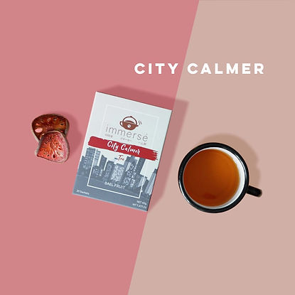 Bael Fruit Tea - Introduction of City Calmer (tea that helps you poop), immersé tea