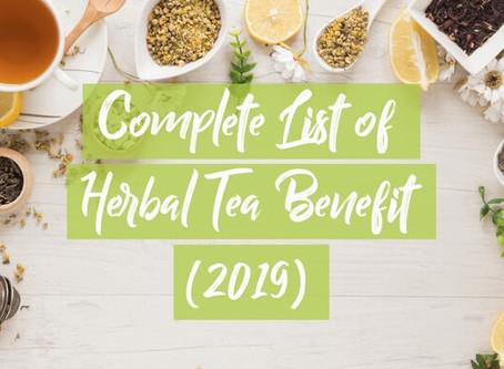 Complete list of herbal tea benefit (2019)