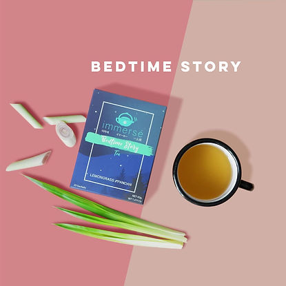 Lemongrass and Pandan Tea - Introduction of Bedtime Story (tea that helps you sleep), immersé tea