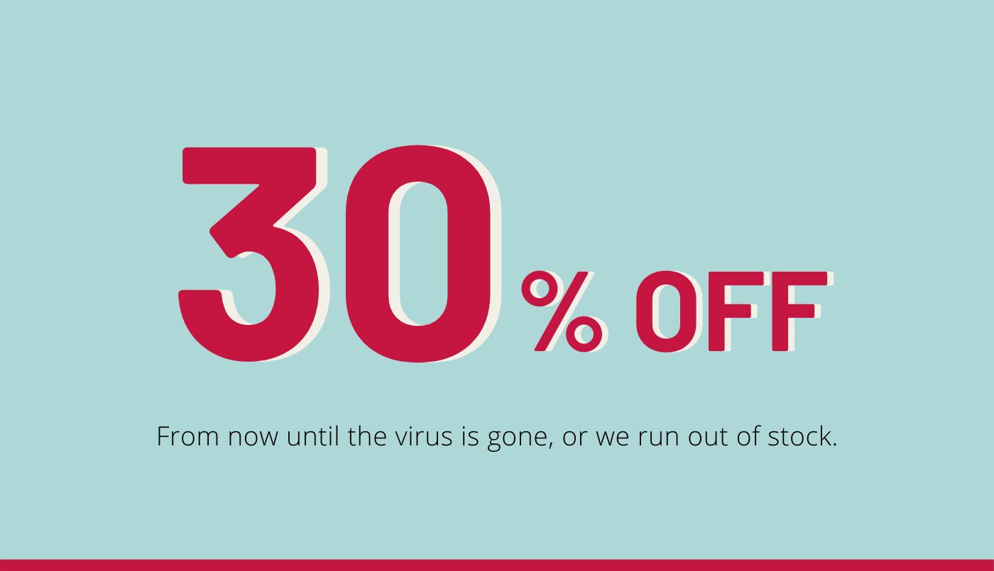 30% off every item