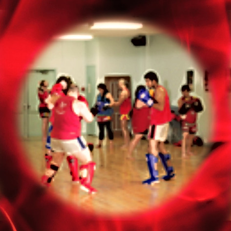 Muay thai training in Calgary