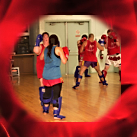 Muay Thai women sparring