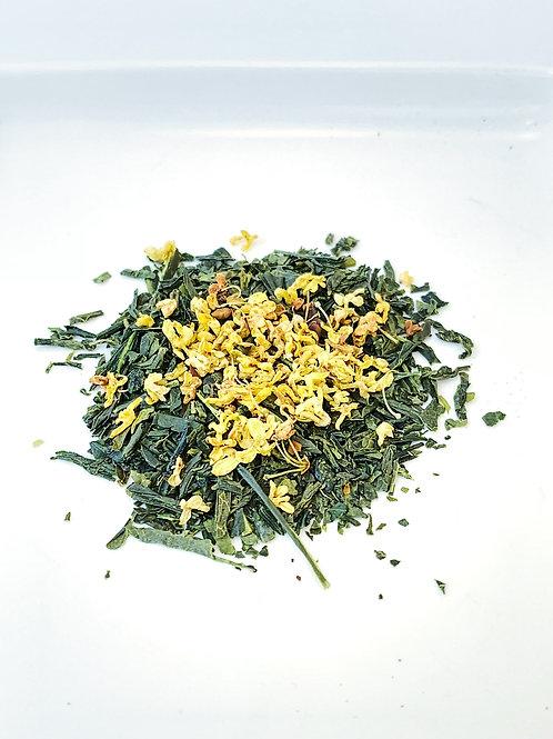 Osmanthus Green Tea。黃金桂花煎茶