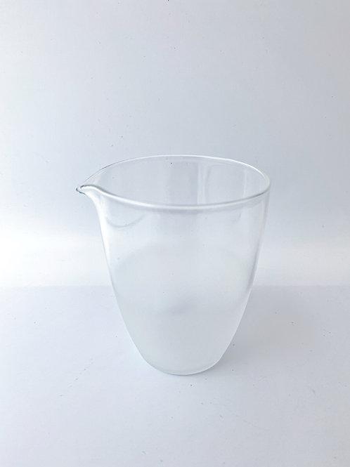 Foggy Glass Tea Jar。雲霧公道杯