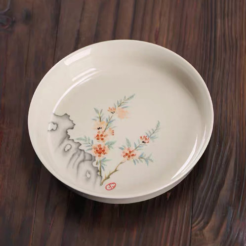 Peach Blossom Tea Plate   桃花茶碟