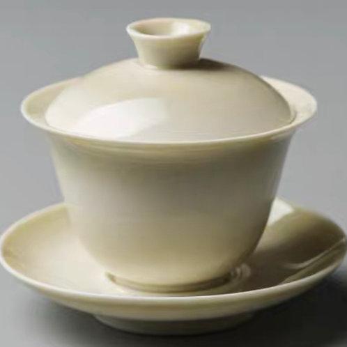 Beige Gaiwan Set | 青灰蓋碗品茗套裝