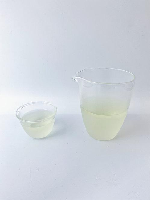 Foggy Glass Small Tea Cup & Fog Glass Tea Jar。雲霧小茶杯與公道杯