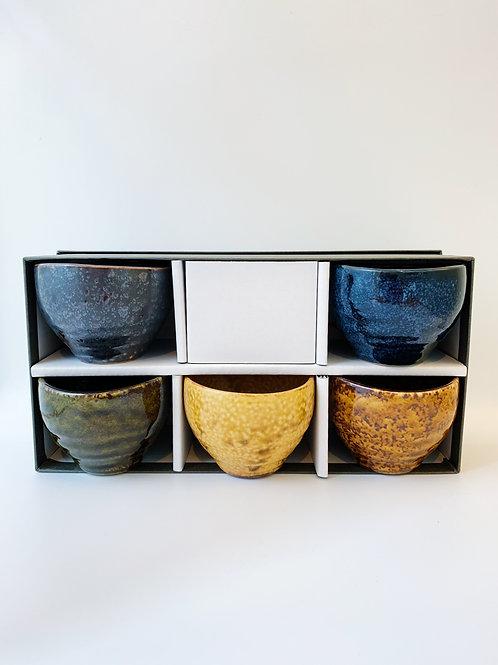 Japan Sekinenaki Porcelain Tea Cup Set。日本美濃焼茶杯套裝