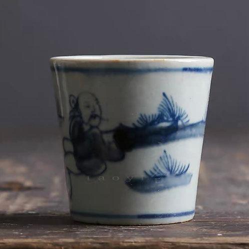 Pinewood China Cup | 松下圖青花杯