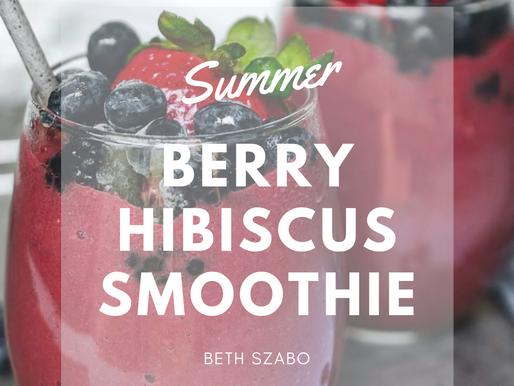 Berry Hibiscus Smoothie [RECIPE]