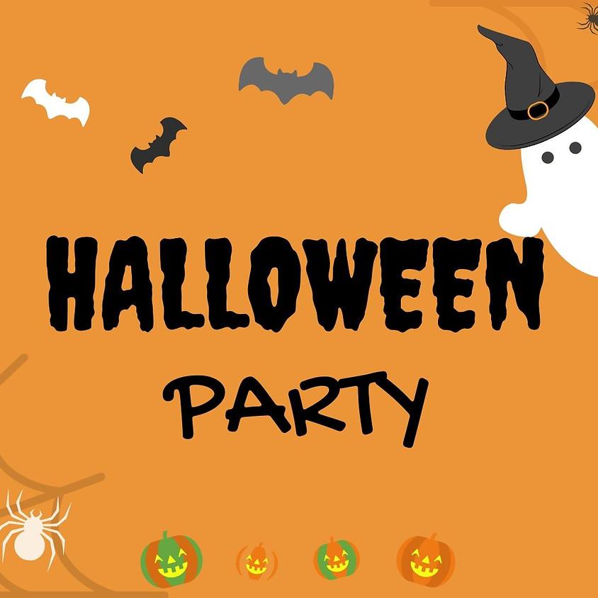 Halloween feest met buffet en dans
