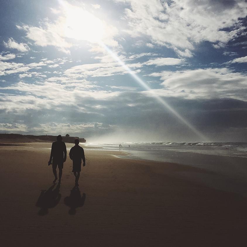 Sportieve wandeling van 16km aan de zee. VOLZET