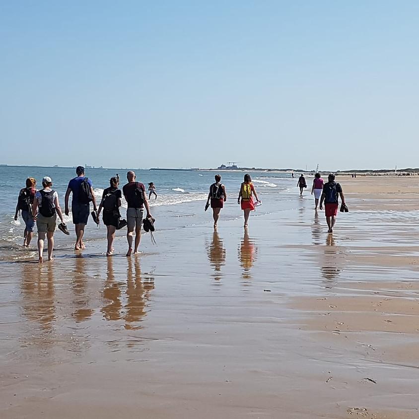 Sportieve wandeling aan de zee. 18km.