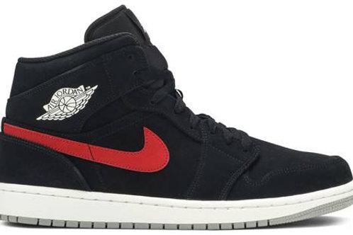 Air Jordan 1 Mid 'Multicolor Swoosh Black'