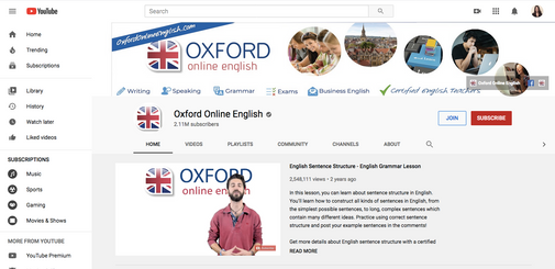 Oxford Online English YouTube Channel