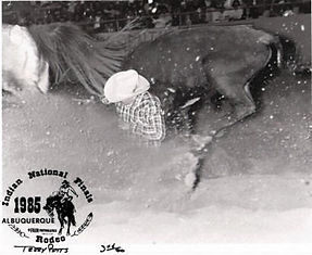 Terry steer wrestling at Indian National