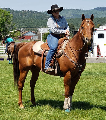 Fling and Ty Frame at barrel racing June