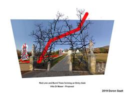 - - front gate of  Villa Di Maser   Vvvv
