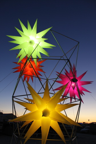 - Stars on Scaffolding in Burning Man 10