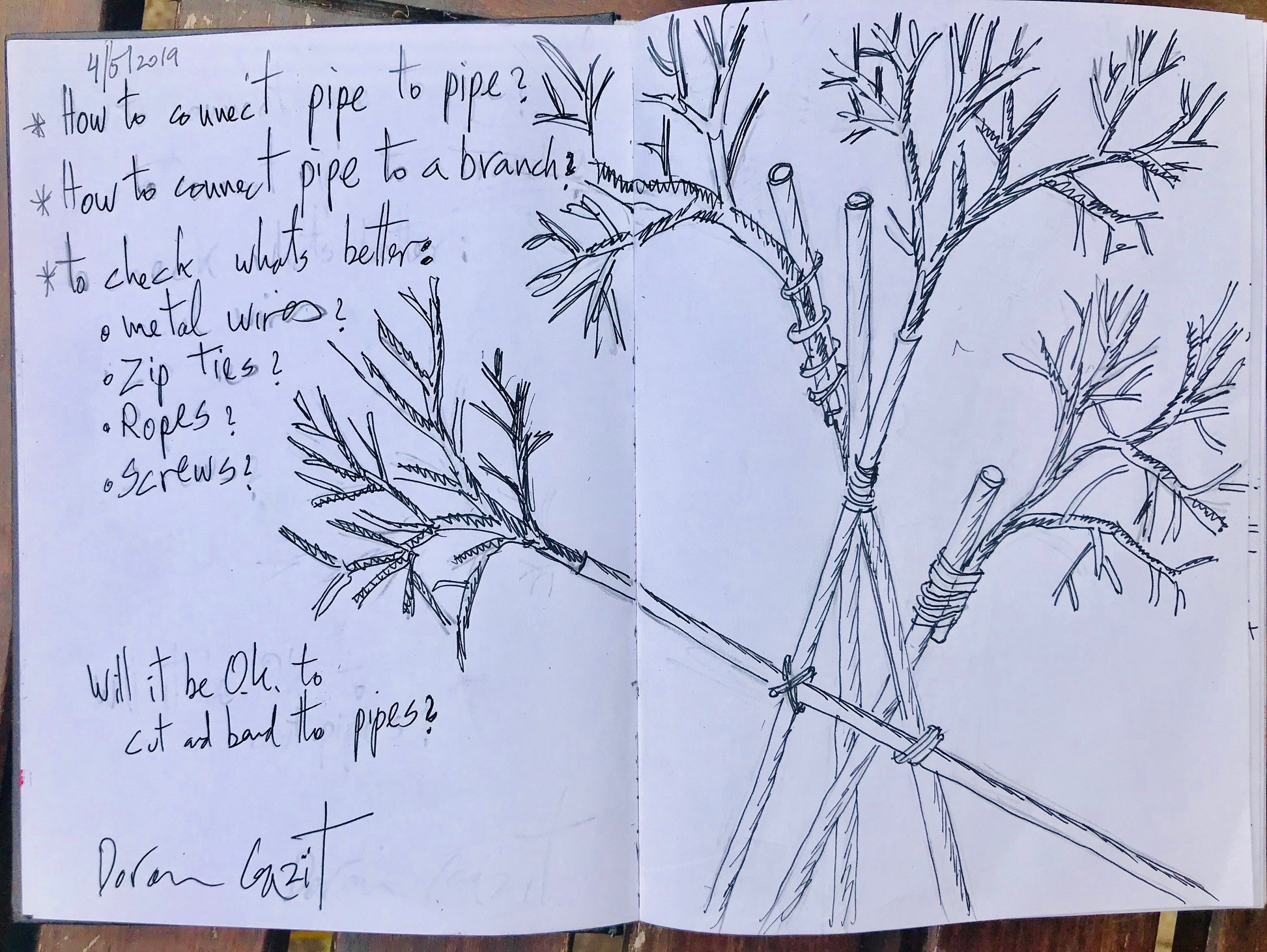 Sketch - Villa - connecting branches to