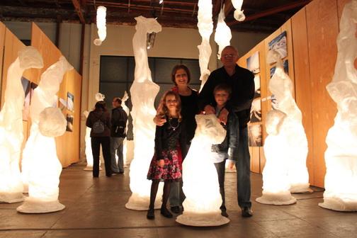 - Gazit family at a FzFw exhibit