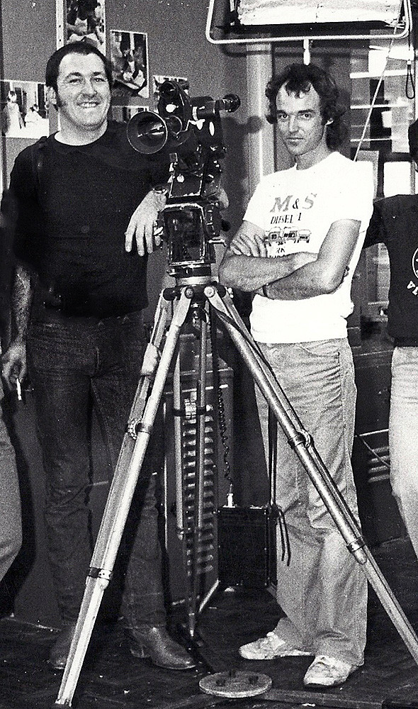 """Philip and Gus working on a short film on """"The Parks – A Community Centre""""for the SA government in the early 1980's."""