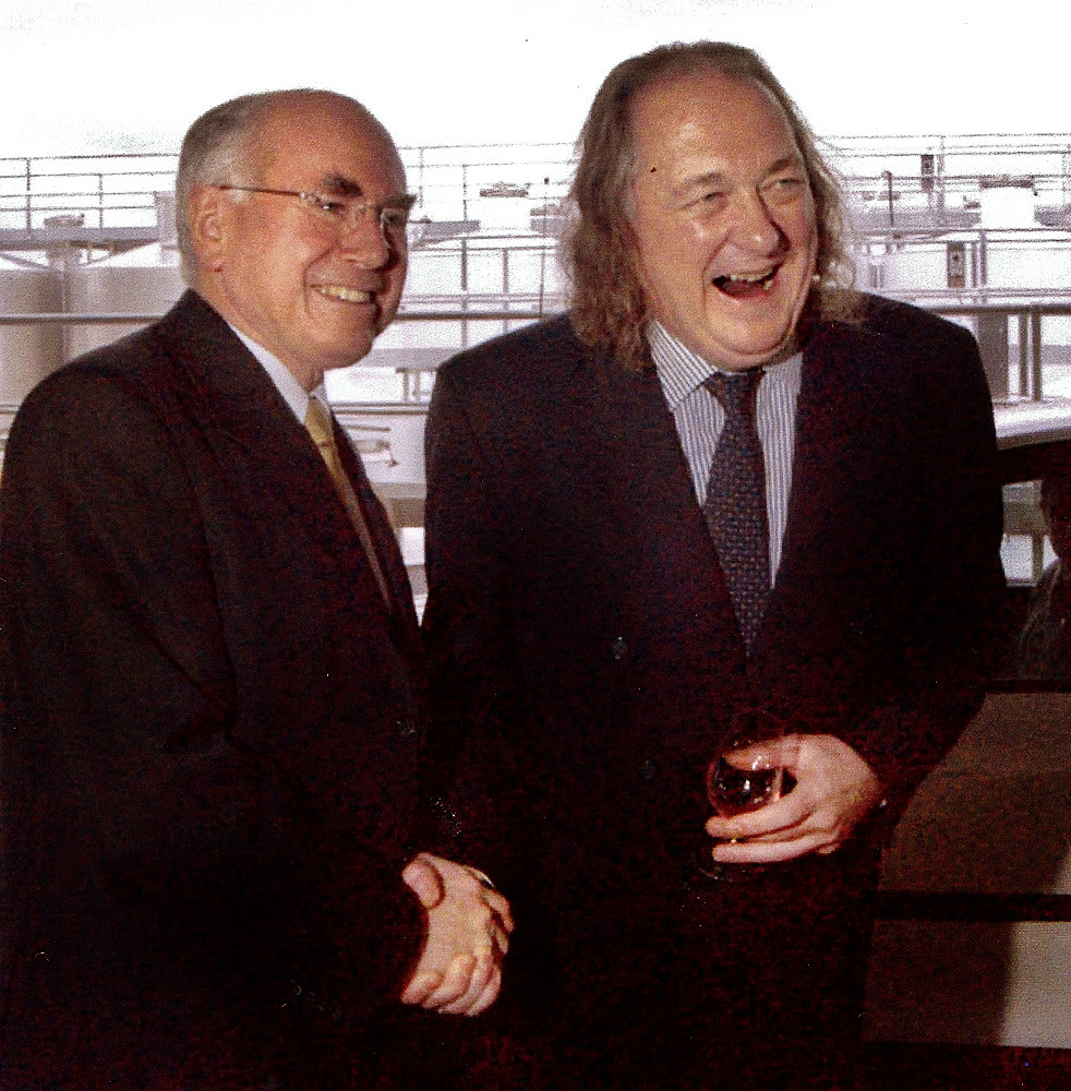 Philip with former Prime Minister John Howard at the opening of O'Leary Walker Wines in Clare.